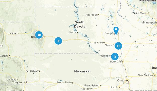 South Dakota Bird Watching Map
