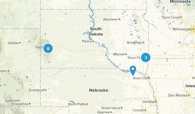 South Dakota Camping Map