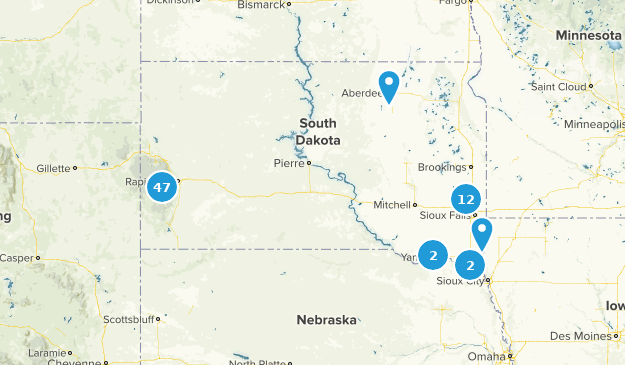 South Dakota Dogs On Leash Map