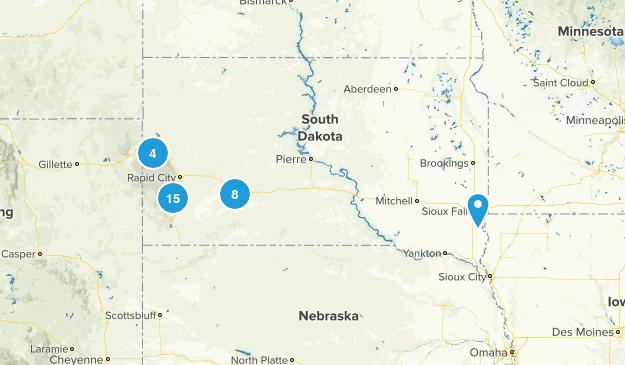 South Dakota No Dogs Map
