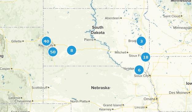 South Dakota Hiking Map