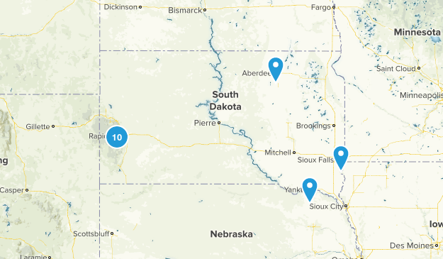 South Dakota Horseback Riding Map