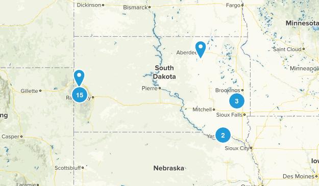 South Dakota Lake Map