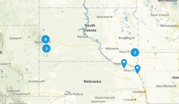 South Dakota Mountain Biking Map
