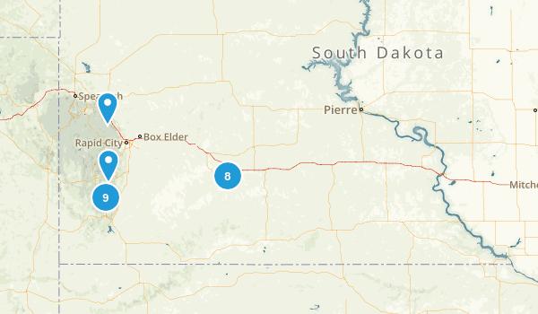 South Dakota National Parks Map