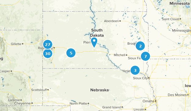 South Dakota Nature Trips Map