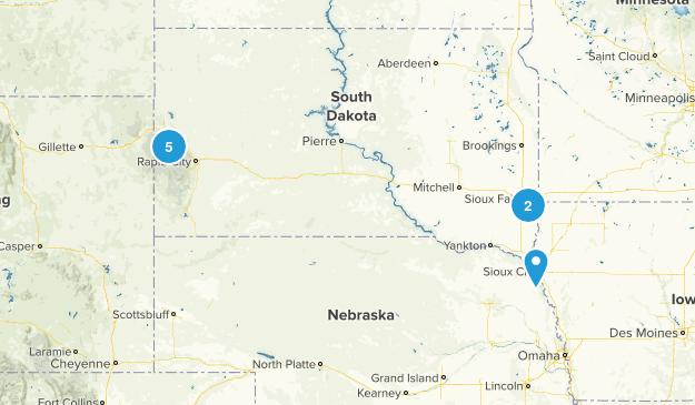 South Dakota Snowshoeing Map