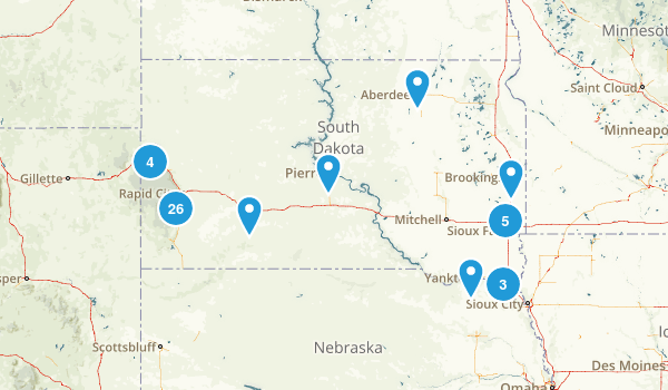South Dakota Trail Running Map