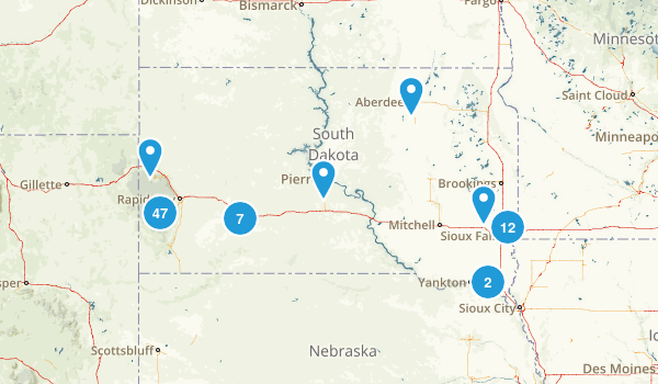 South Dakota Walking Map
