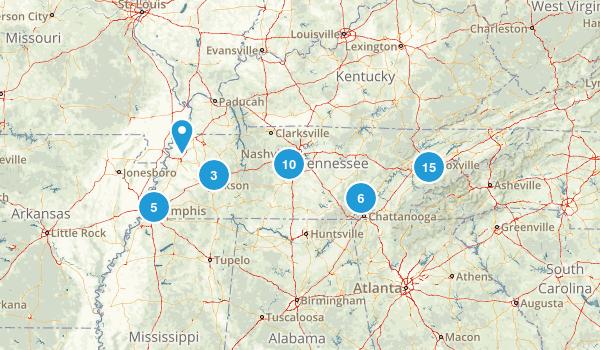 Tennessee Wheelchair Friendly Map