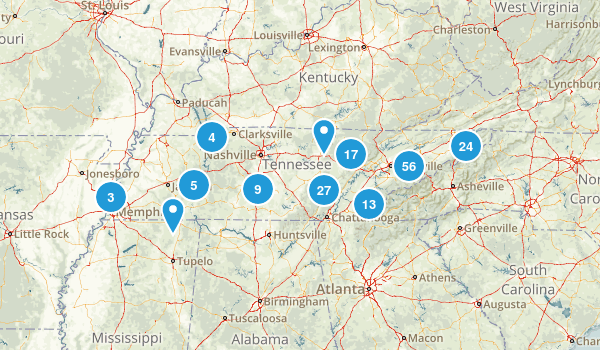 Tennessee Camping Map