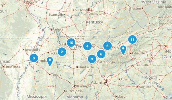 Tennessee Dog Friendly Map