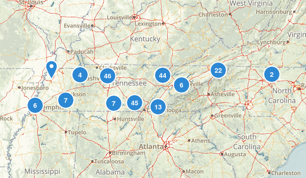 Tennessee Dogs On Leash Map