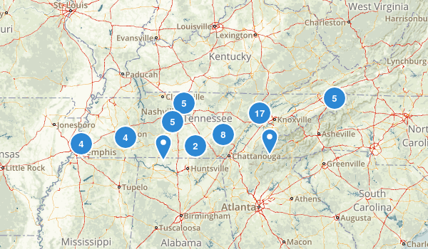 Tennessee Fishing Map