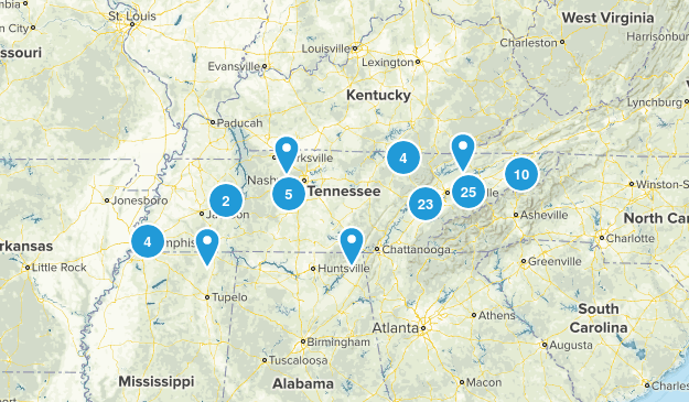 Tennessee Horseback Riding Map