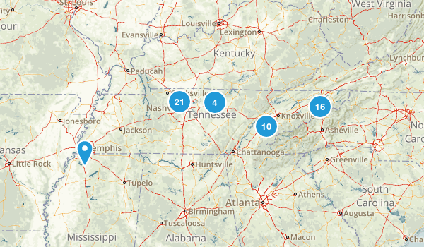 Tennessee Local Parks Map