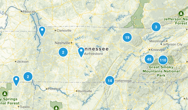 Tennessee National Parks Map