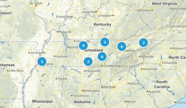 Tennessee Paddle Sports Map