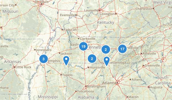 Tennessee Road Biking Map