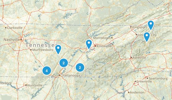 Tennessee Rock Climbing Map