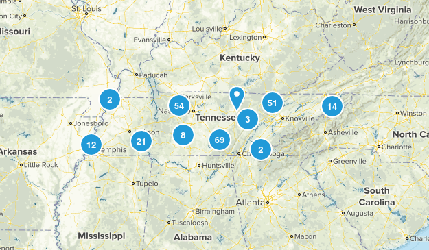 Tennessee State Parks Map