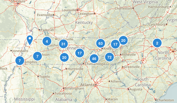 Tennessee Wildlife Map