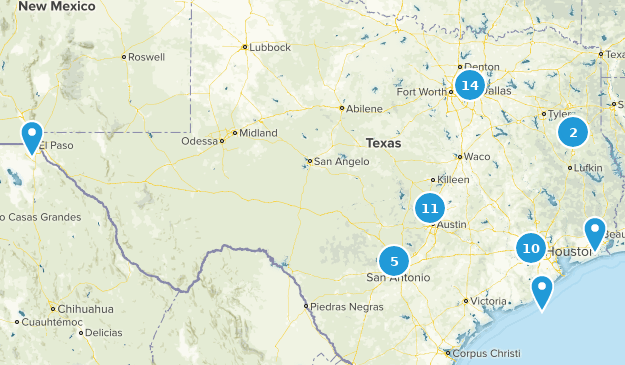 Texas City Walk Map