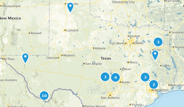 Map Of Texas Towns And Cities.Best Off Road Driving Trails In Texas Alltrails