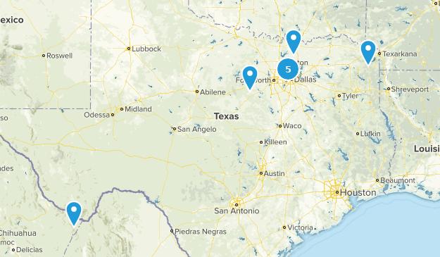 Texas Rails Trails Map