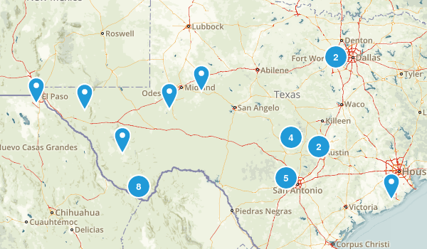 Texas Scenic Driving Map