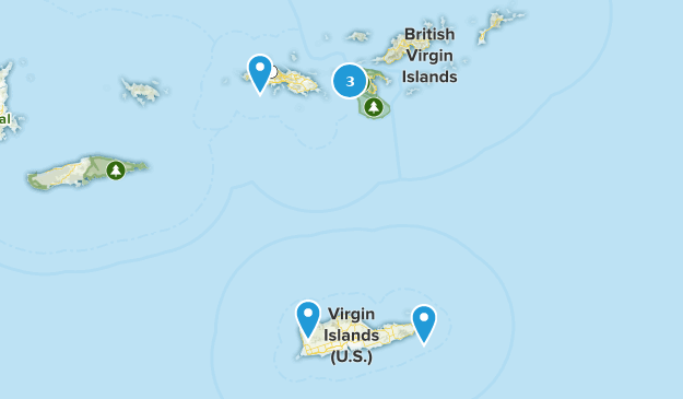 United States Virgin Islands Views Map