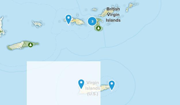 United States Virgin Islands Walking Map