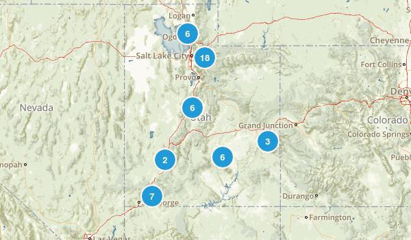Utah Rock Climbing Map