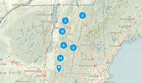 Vermont Backpacking Map