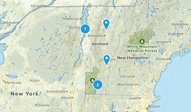 Vermont Beach Map