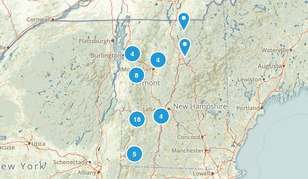 Vermont Camping Map