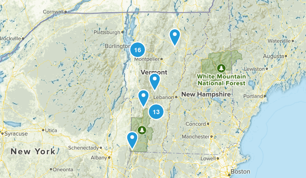 Vermont Cross Country Skiing Map