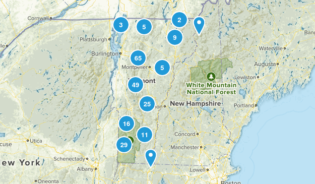 Vermont Dogs On Leash Map