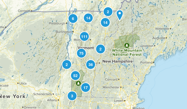Vermont Hiking Map