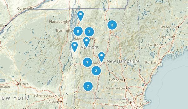 Vermont Mountain Biking Map
