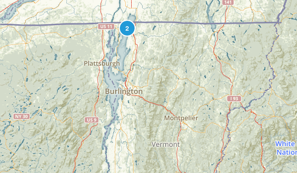 Vermont National Parks Map