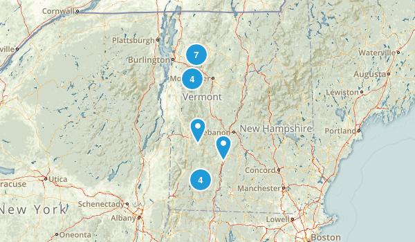 Vermont Skiing Map