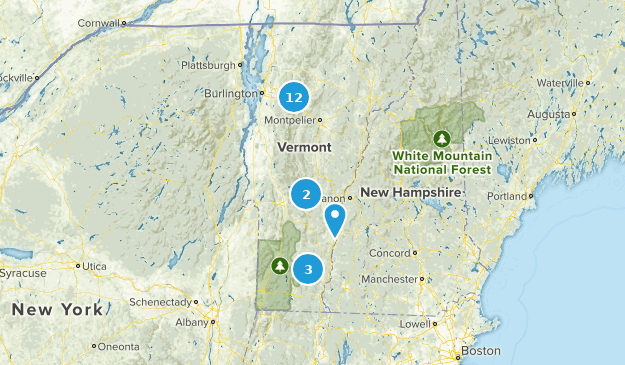 Vermont Skiing Map