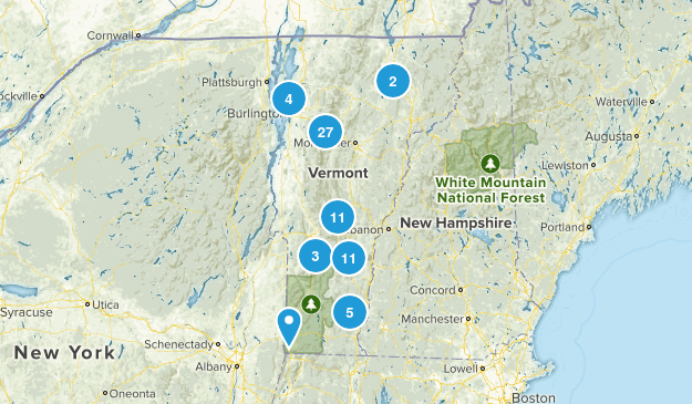 Vermont Snowshoeing Map