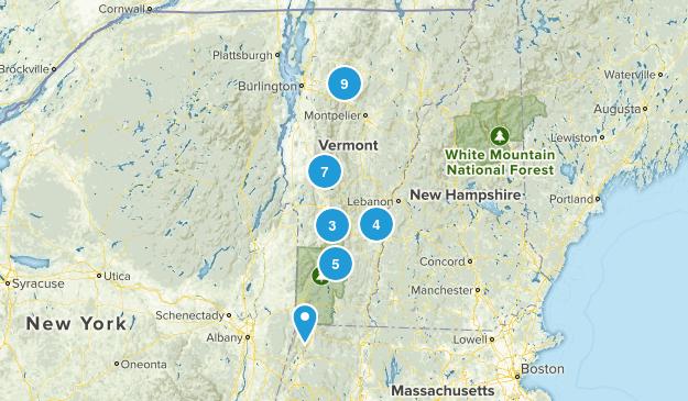 Vermont Waterfall Map