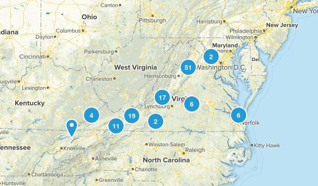 Virginia Camping Map