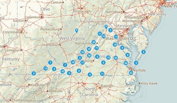 Virginia Parks Map