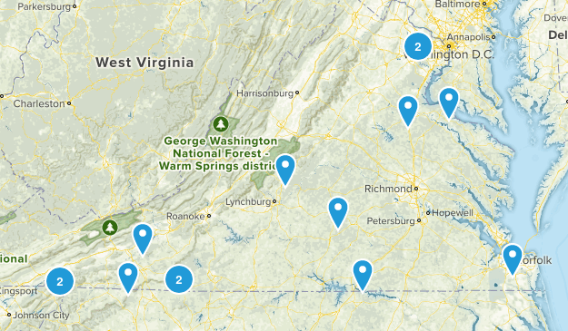Virginia Rails Trails Map