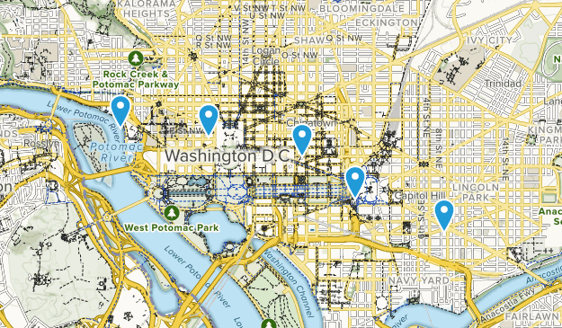 District of Columbia Wheelchair Friendly Map