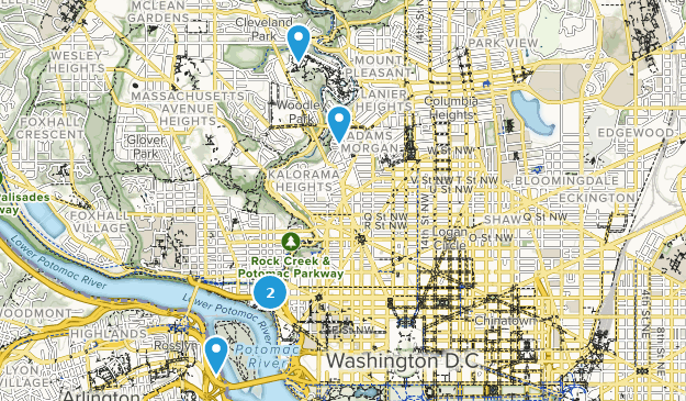 District of Columbia Dog Friendly Map